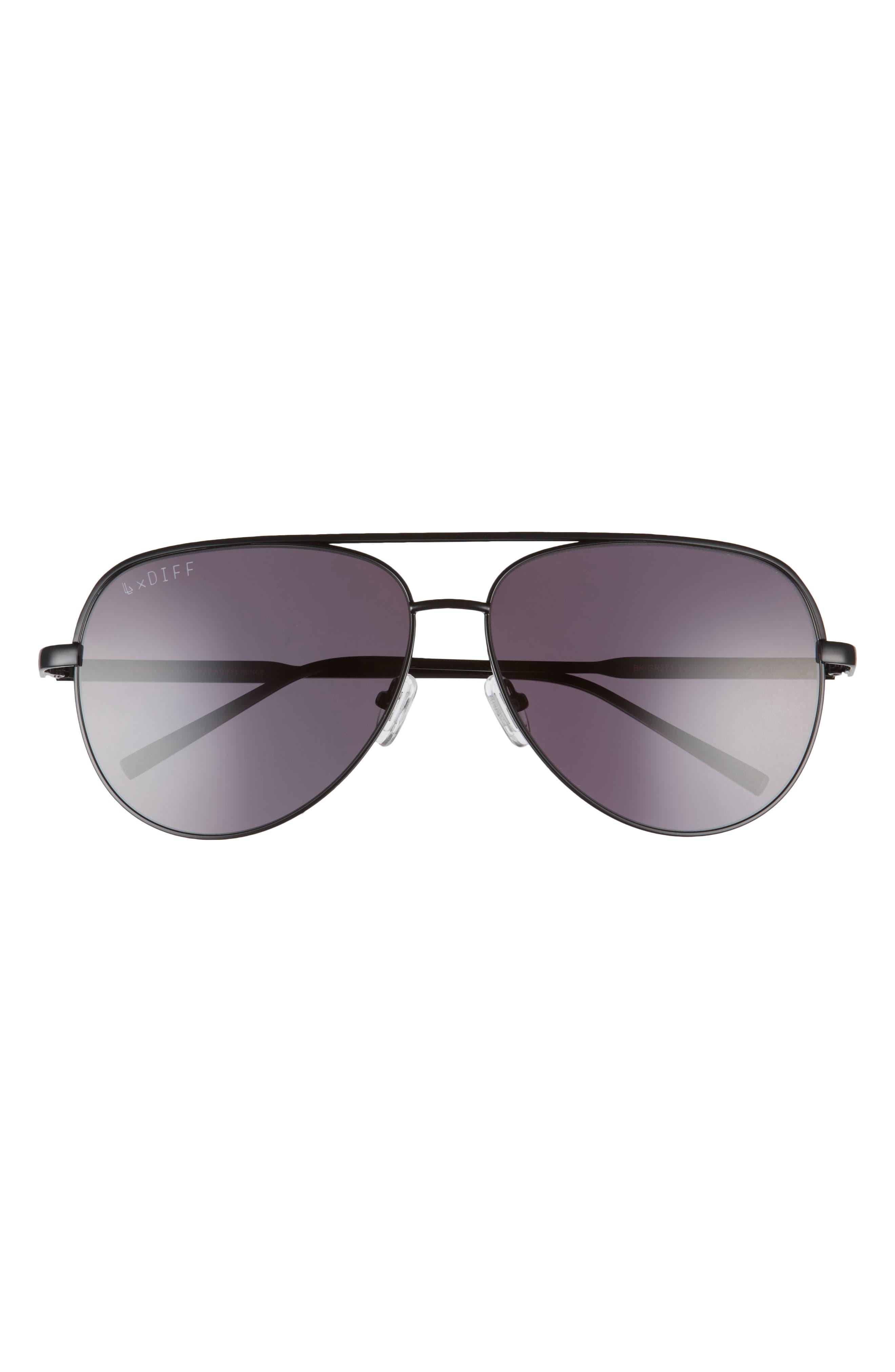 X Lauren London California Soul 64mm Aviator Sunglasses