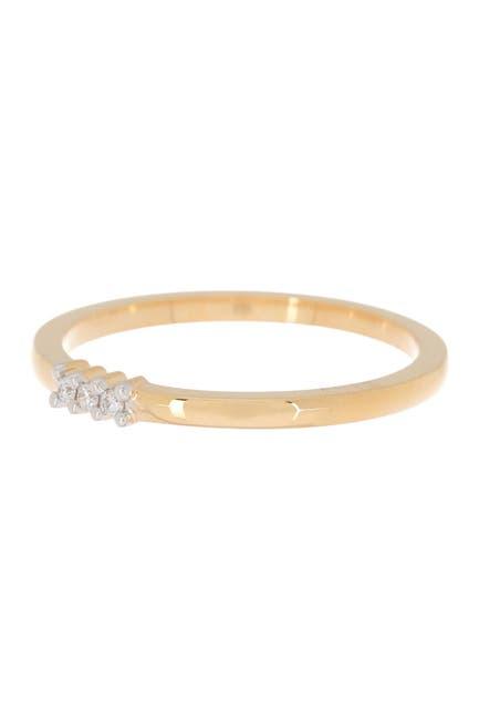 Image of Bony Levy 18K Yellow Gold 3-Diamond Ring - 0.03 ctw