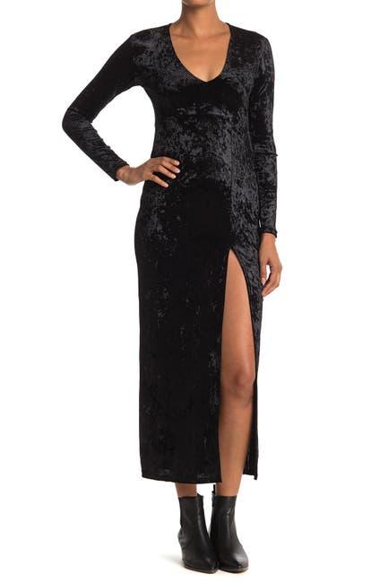 Image of Velvet Torch V-Neck Velvet Maxi Dress