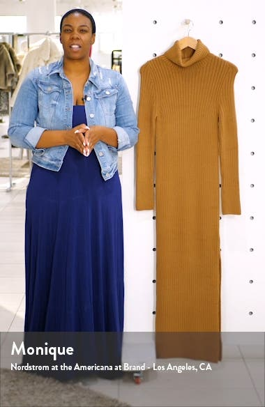 Turtleneck Long Sleeve Sweater Dress, sales video thumbnail