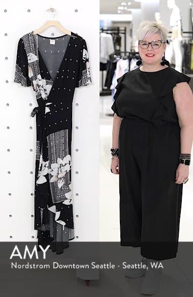 Alamante Print Wrap Dress, sales video thumbnail