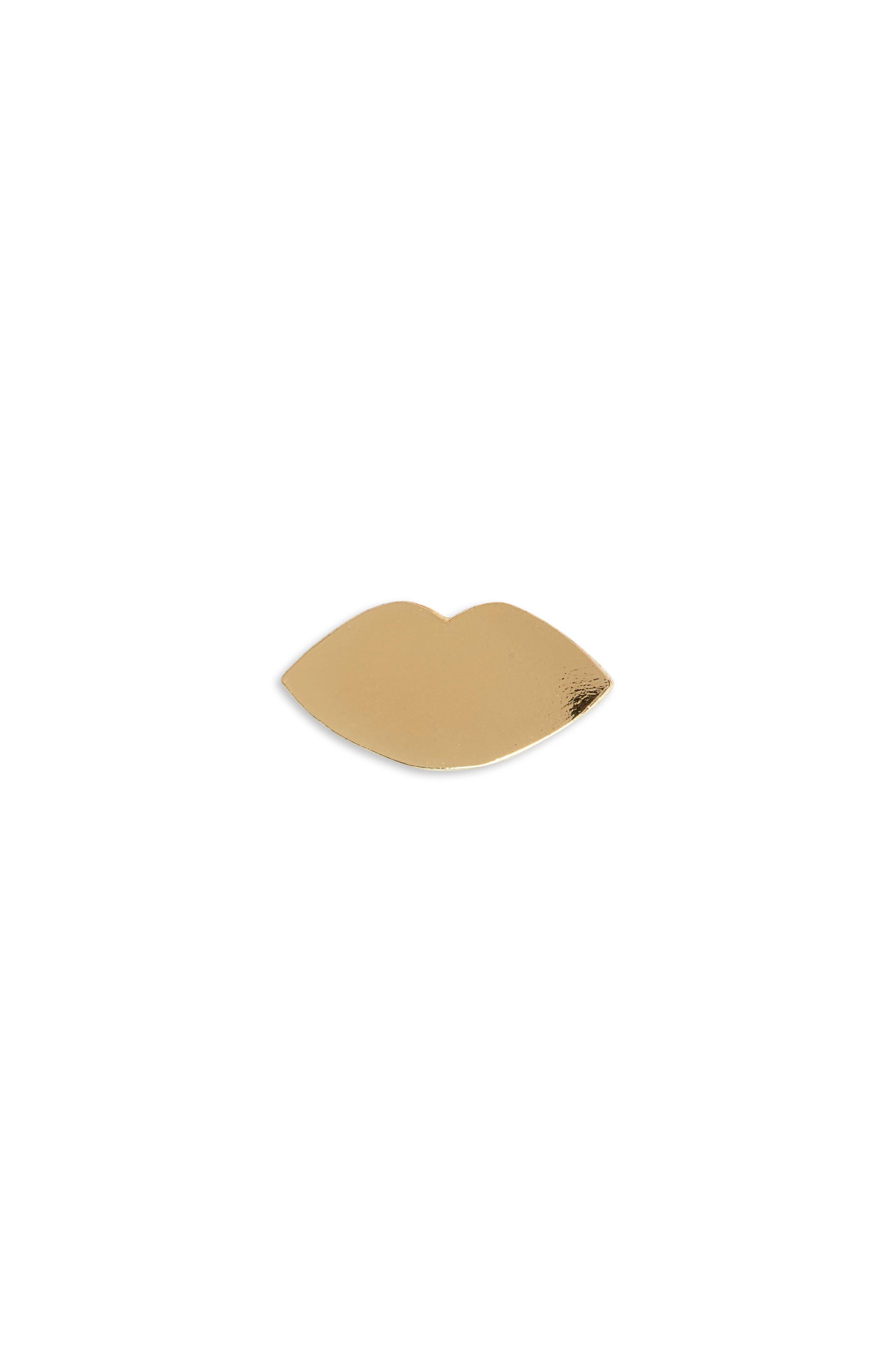 Tiny Lips Single Stud Earring