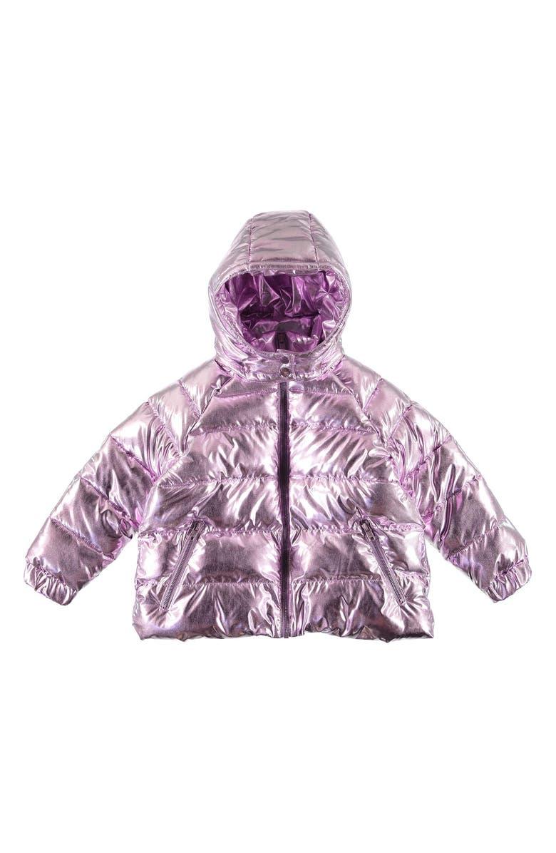 STELLA MCCARTNEY KIDS Metallic Puffer Jacket, Main, color, PINK