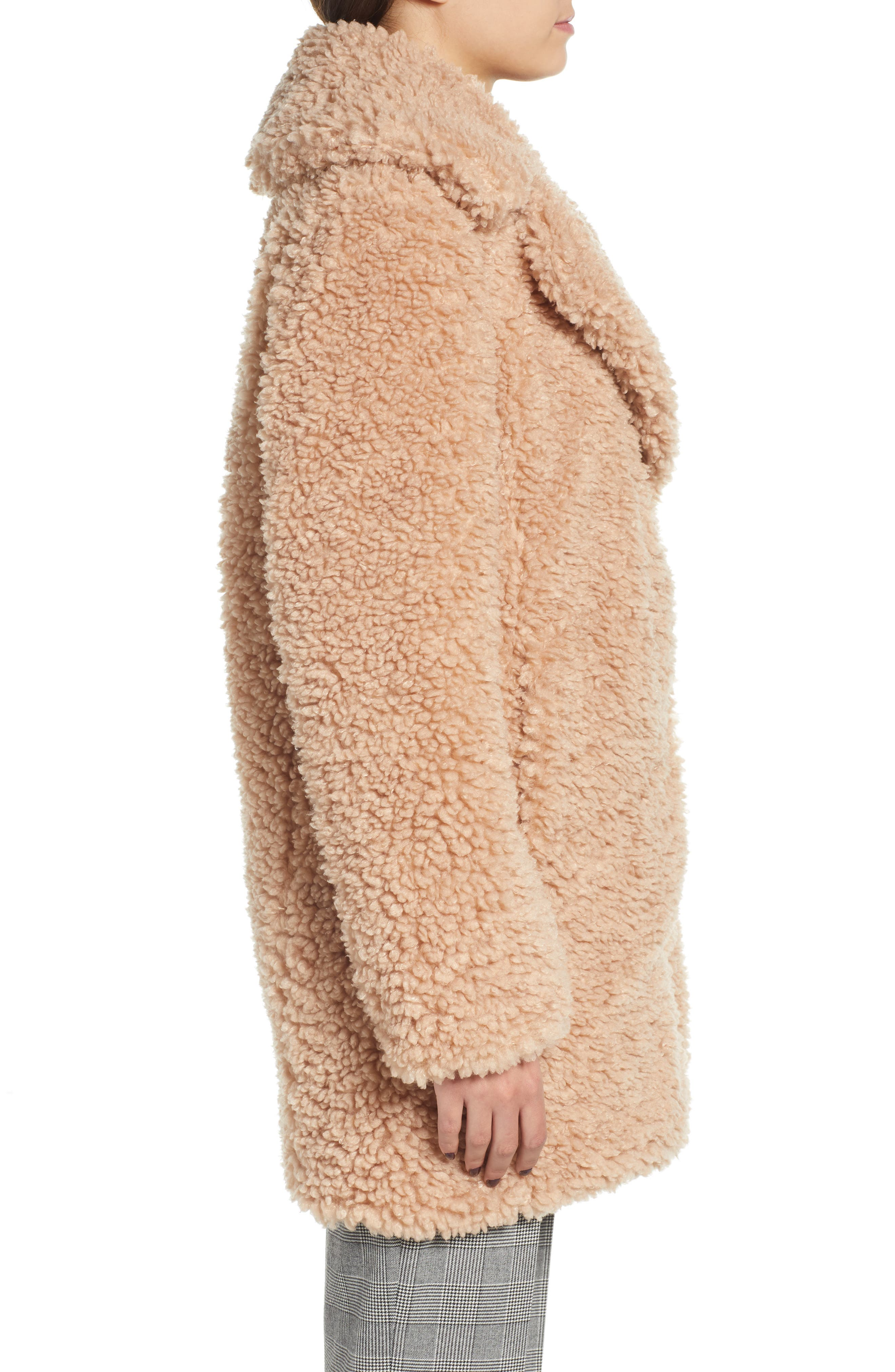 ,                             Faux Shearling Coat,                             Alternate thumbnail 16, color,                             900