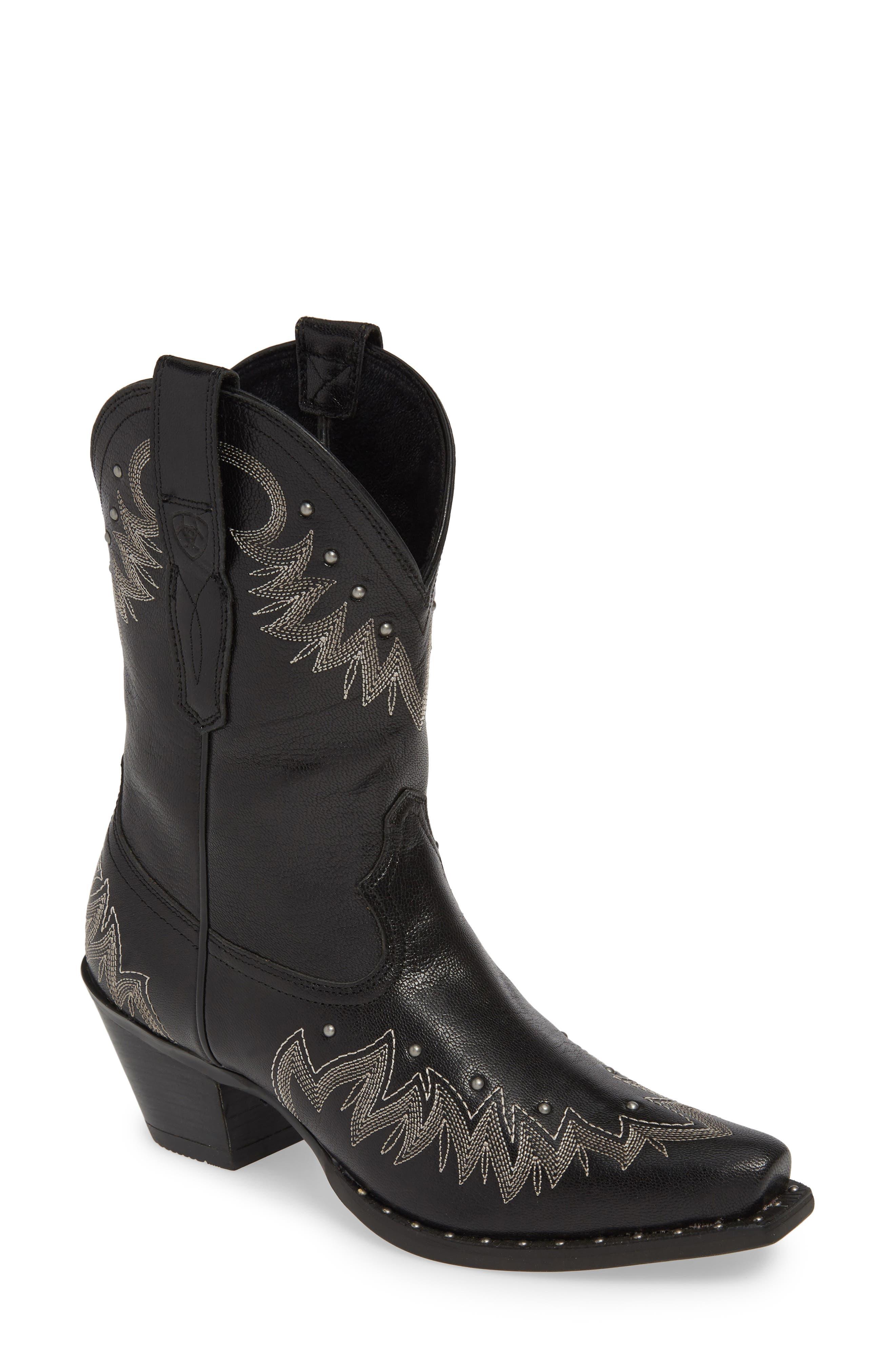 Ariat Potrero Western Boot- Black