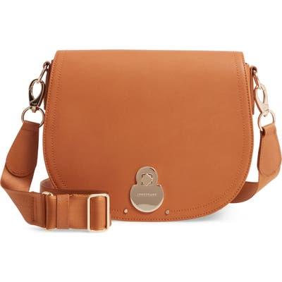Longchamp Medium Cavalcade Leather Crossbody Bag - Beige