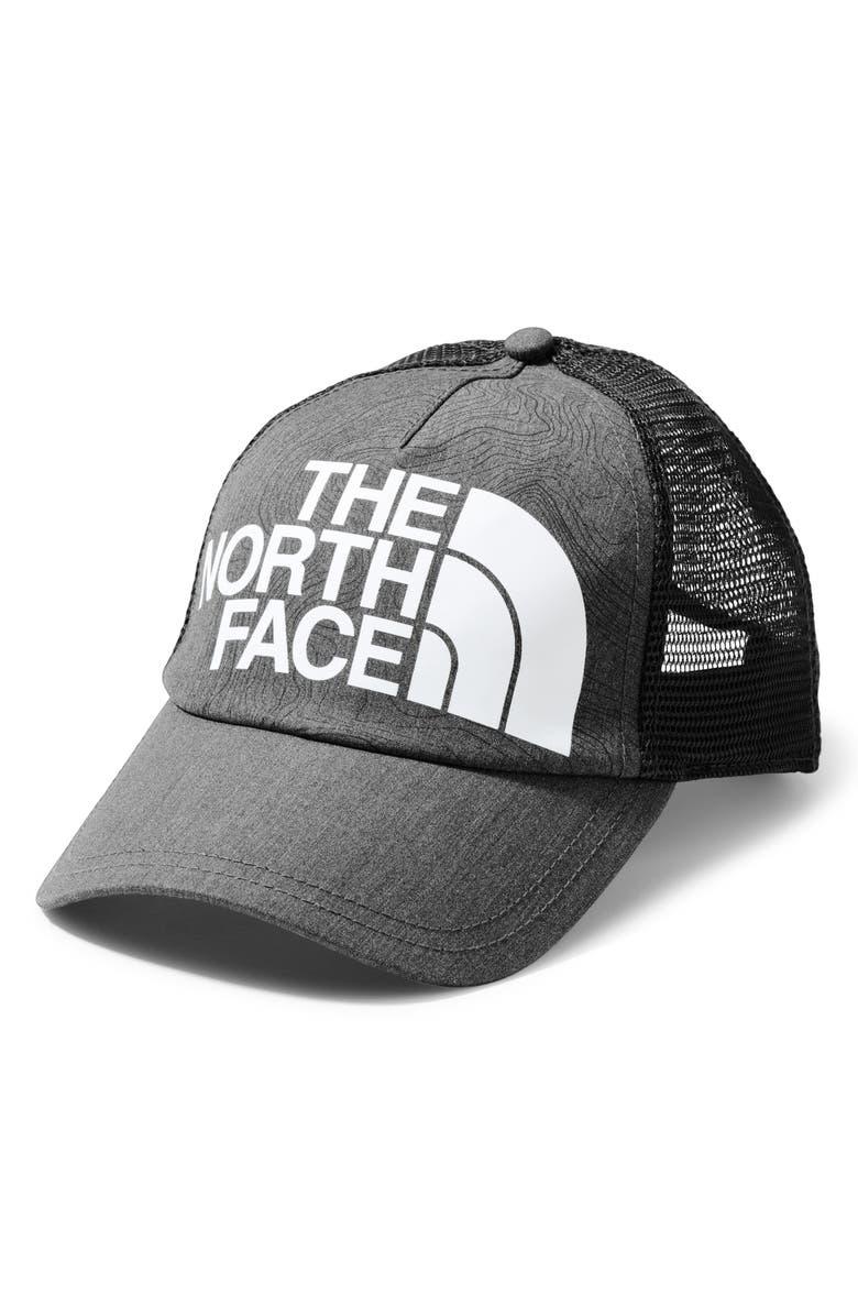 THE NORTH FACE Low Profile Trucker Hat, Main, color, TNF MEDIUM GRY HTR/ TNF WHITE
