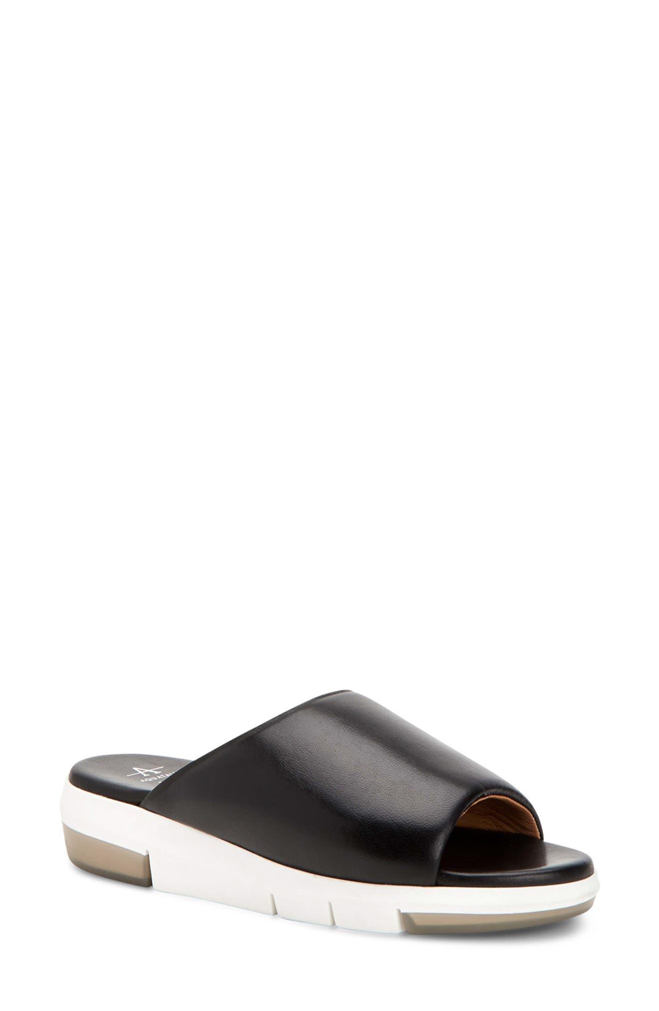 Sharla Water Resistant Platform Slide Sandal