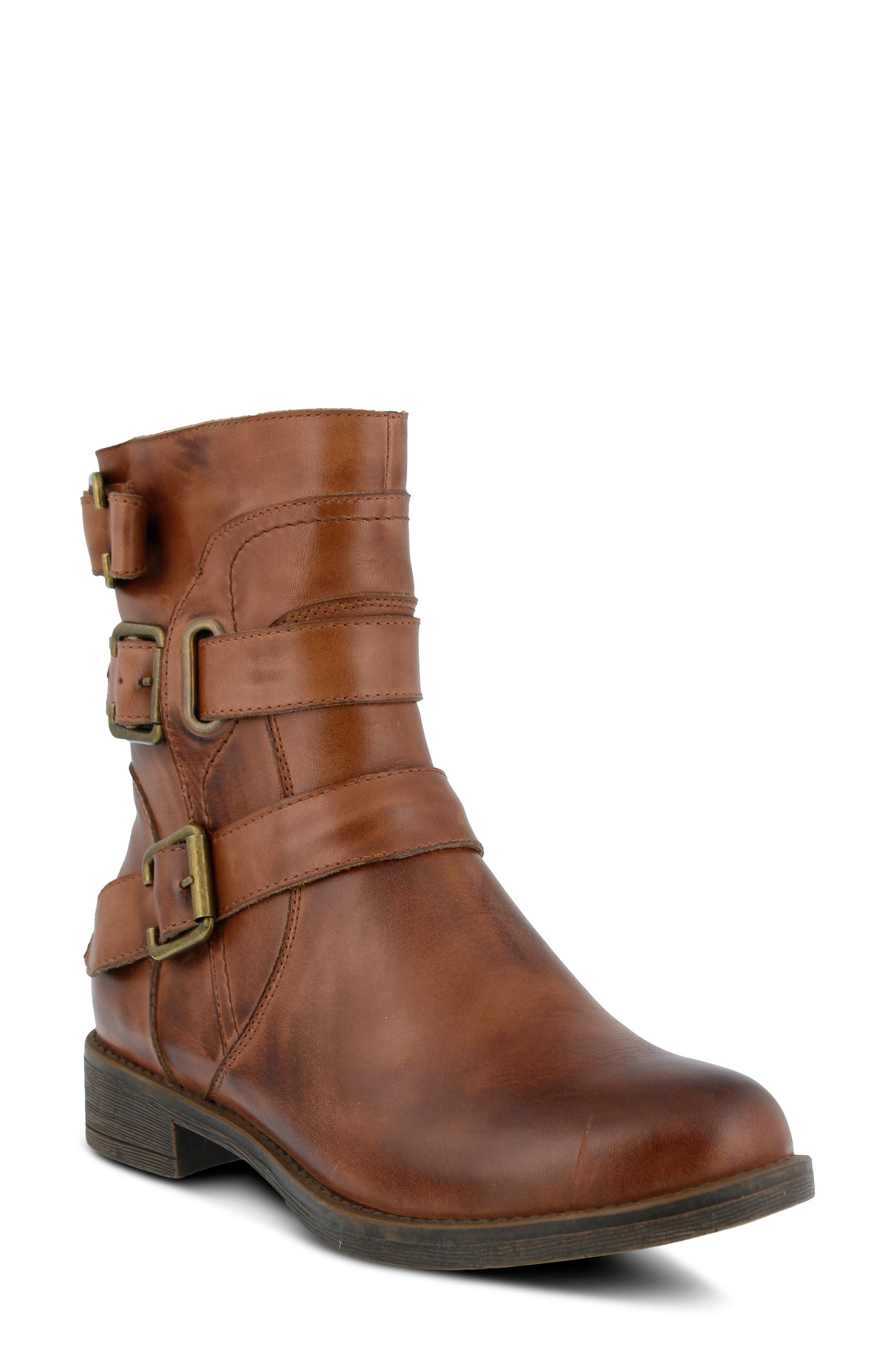 Spring Step Diony Engineer Bootie - Brown