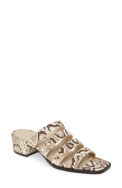 Image of FREDA SALVADOR Ingrid Block Heel Strappy Slide Sandal