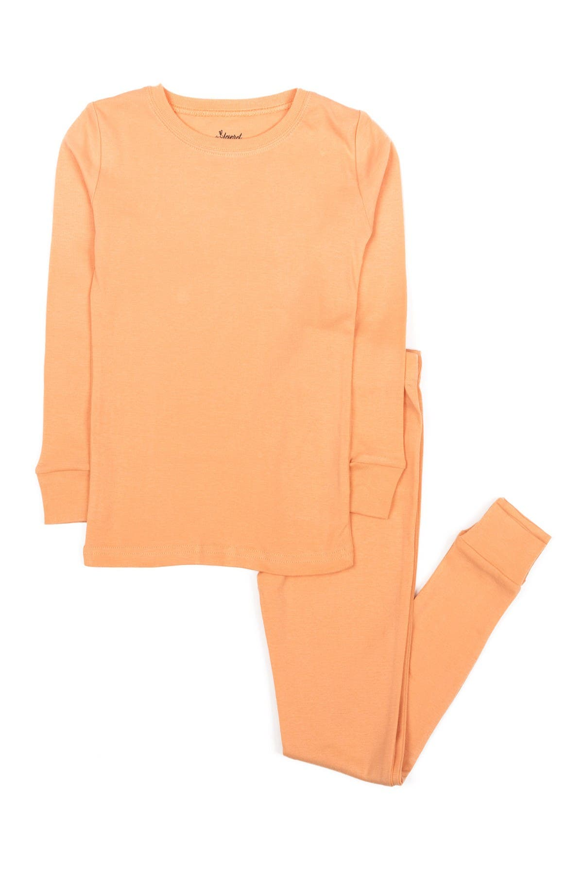 Image of Leveret Peach Two-Piece Cotton Pajamas
