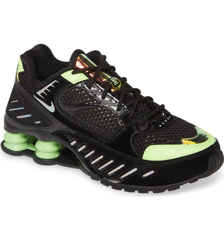 NIKE Shox Enigma SP Sneaker, Main, color, BLACK/ BLACK/ LIME BLAST