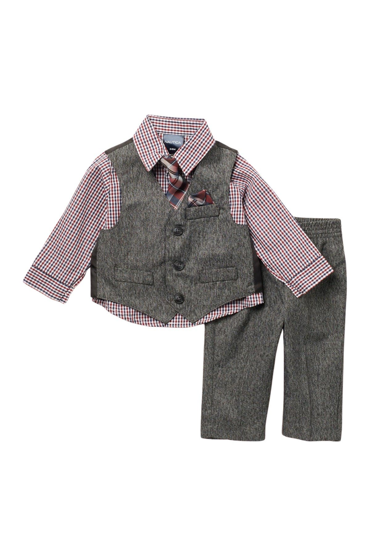 Image of Nautica Holiday Twist Vest 3-Piece Set