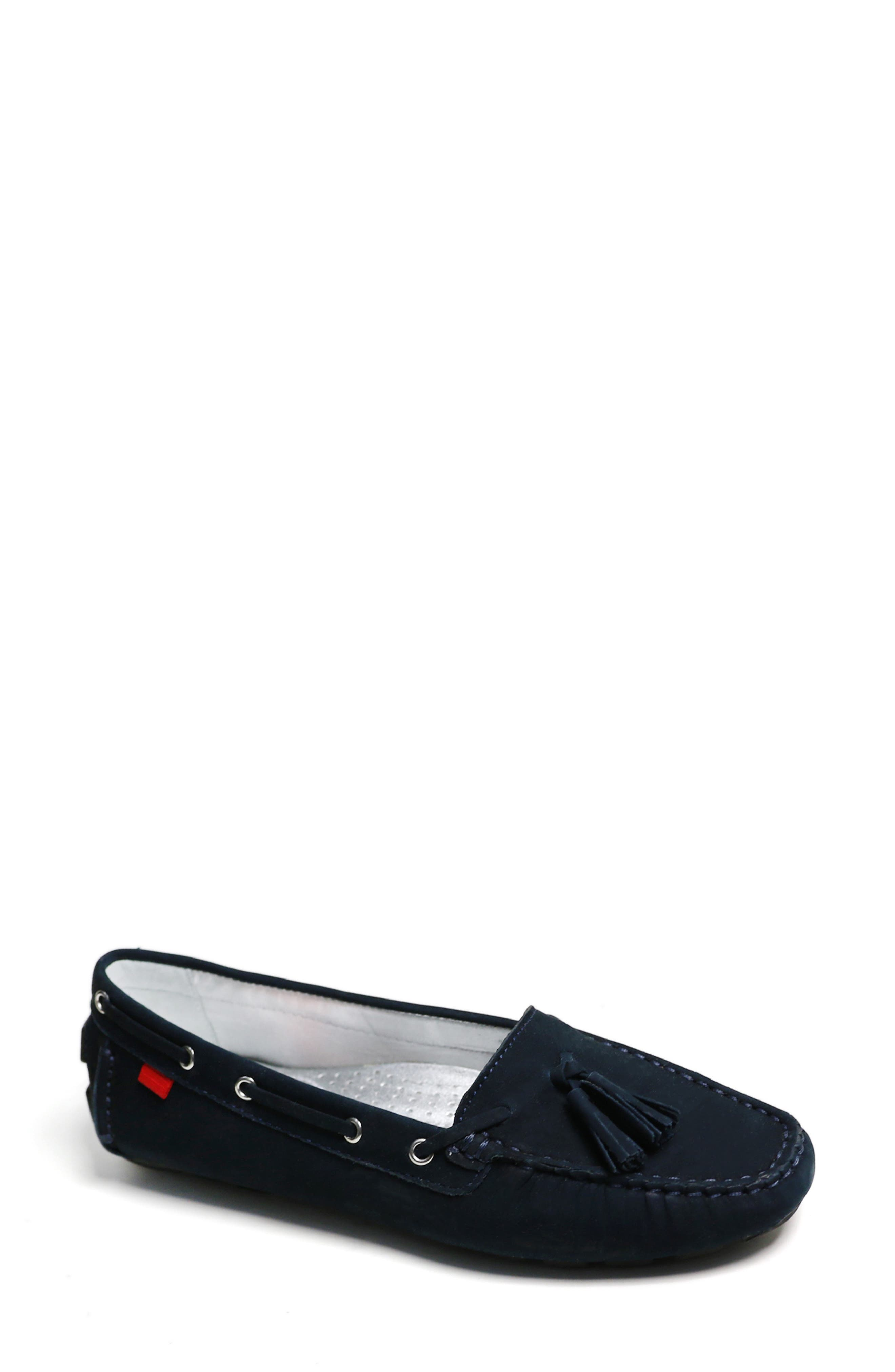 An artisan-crafted driving loafer with lacing and tassels boasts a gel-heel insert, a padded arch-supportive footbed and a flexible sole for comfort. Style Name: Marc Joseph New York Prospect Park Tassel Loafer (Women). Style Number: 6108267. Available in stores.