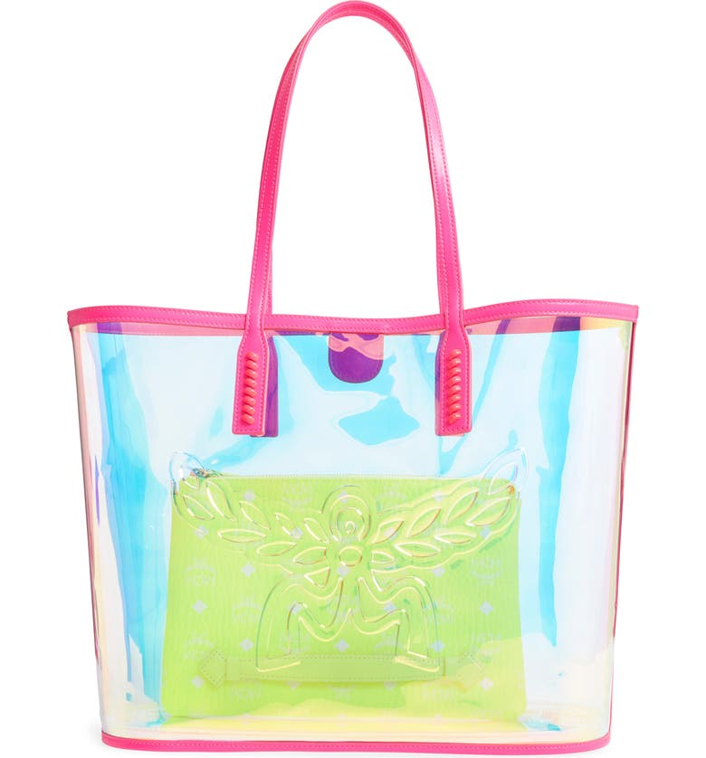 Medium Flo Transparent Holographic Shopper by Mcm