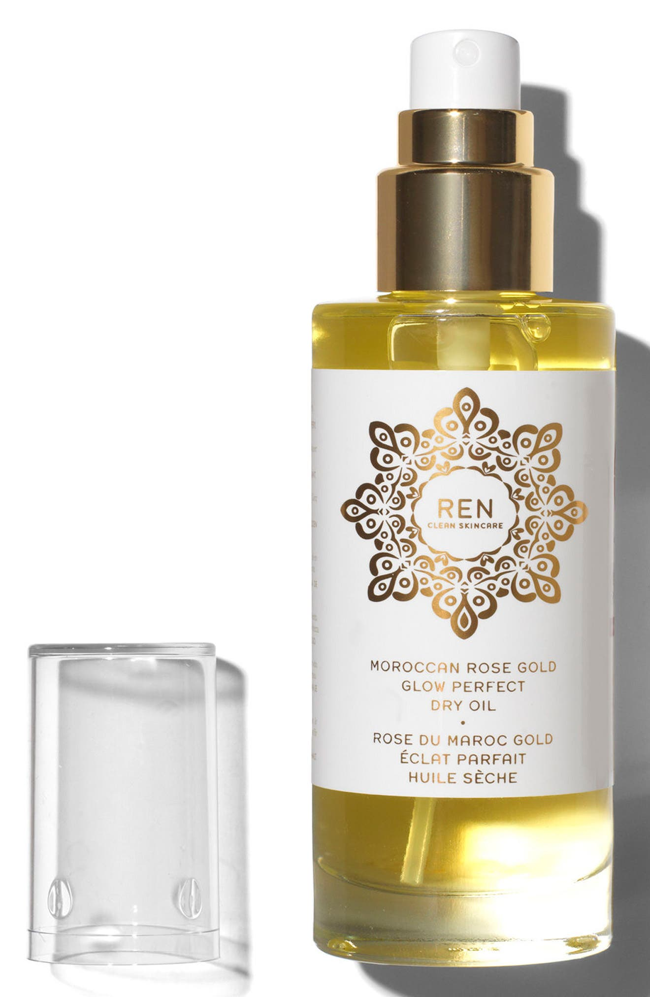 ,                             SPACE.NK.apothecary REN Moroccan Rose Gold Glow Perfect Dry Oil,                             Alternate thumbnail 2, color,                             NO COLOR