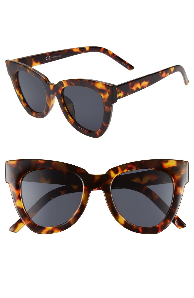 SHADY LADY Hayley 50mm Cat Eye Sunglasses, Main, color, 200