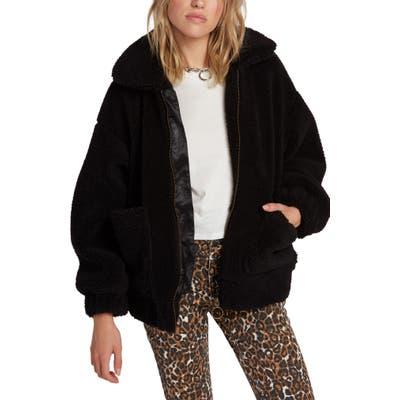 Volcom Sea Sherpant Fleece Jacket, Black