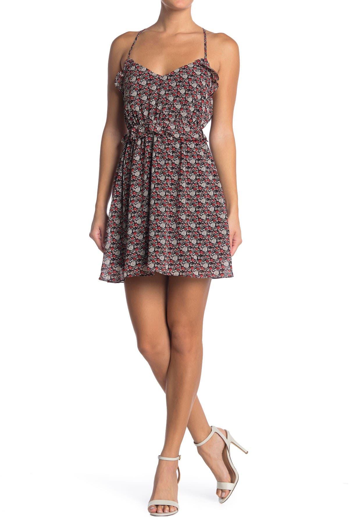 Image of Lush Ruffle Mini Dress