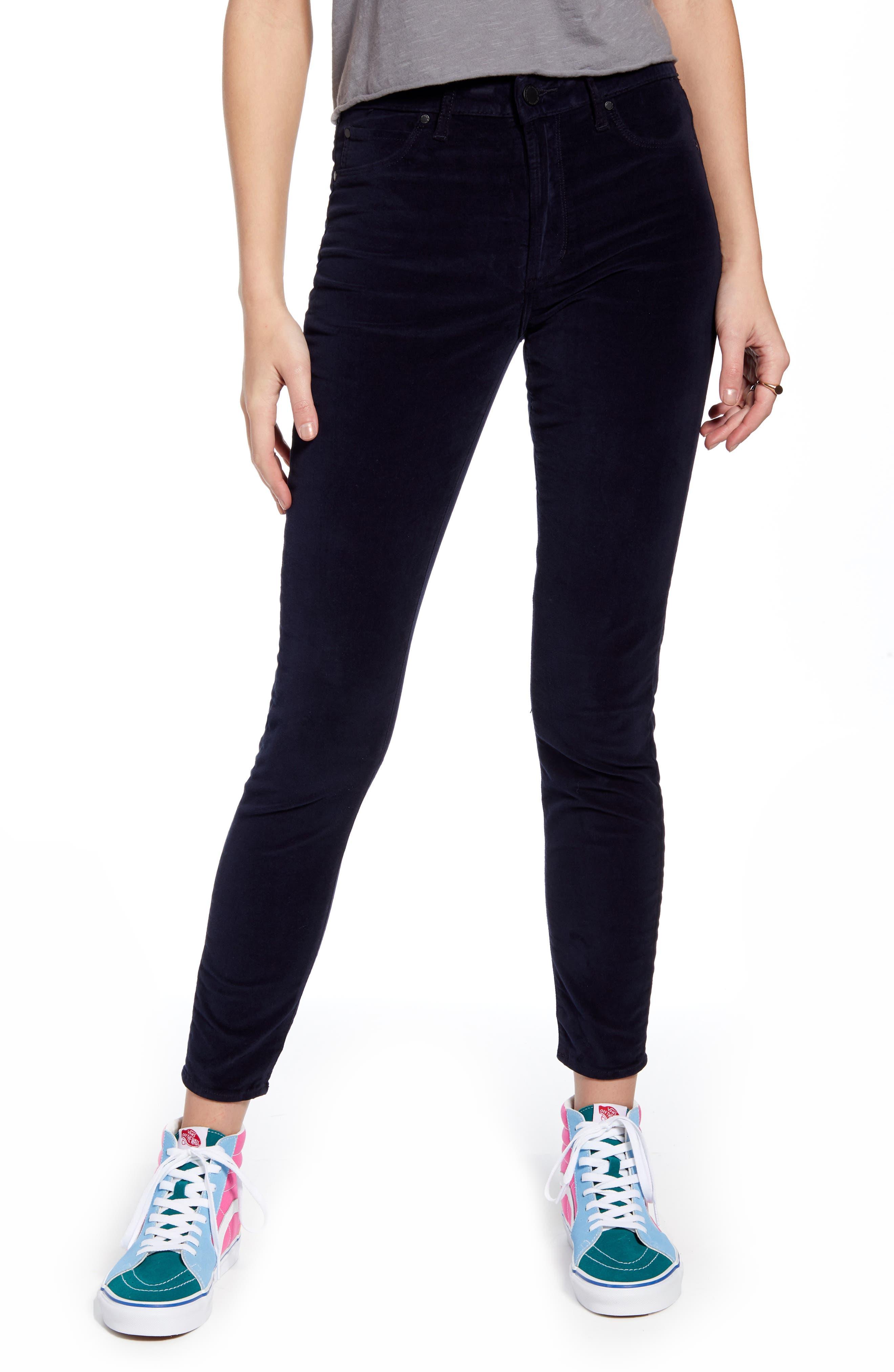 Image of Articles of Society Hilary High Rise Skinny Velveteen Pants