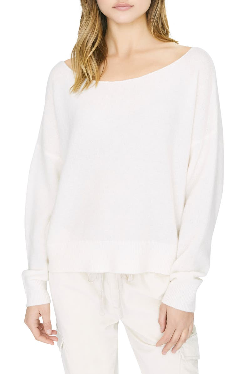 SANCTUARY Chill Out Ballet Neck Sweater, Main, color, OPAL