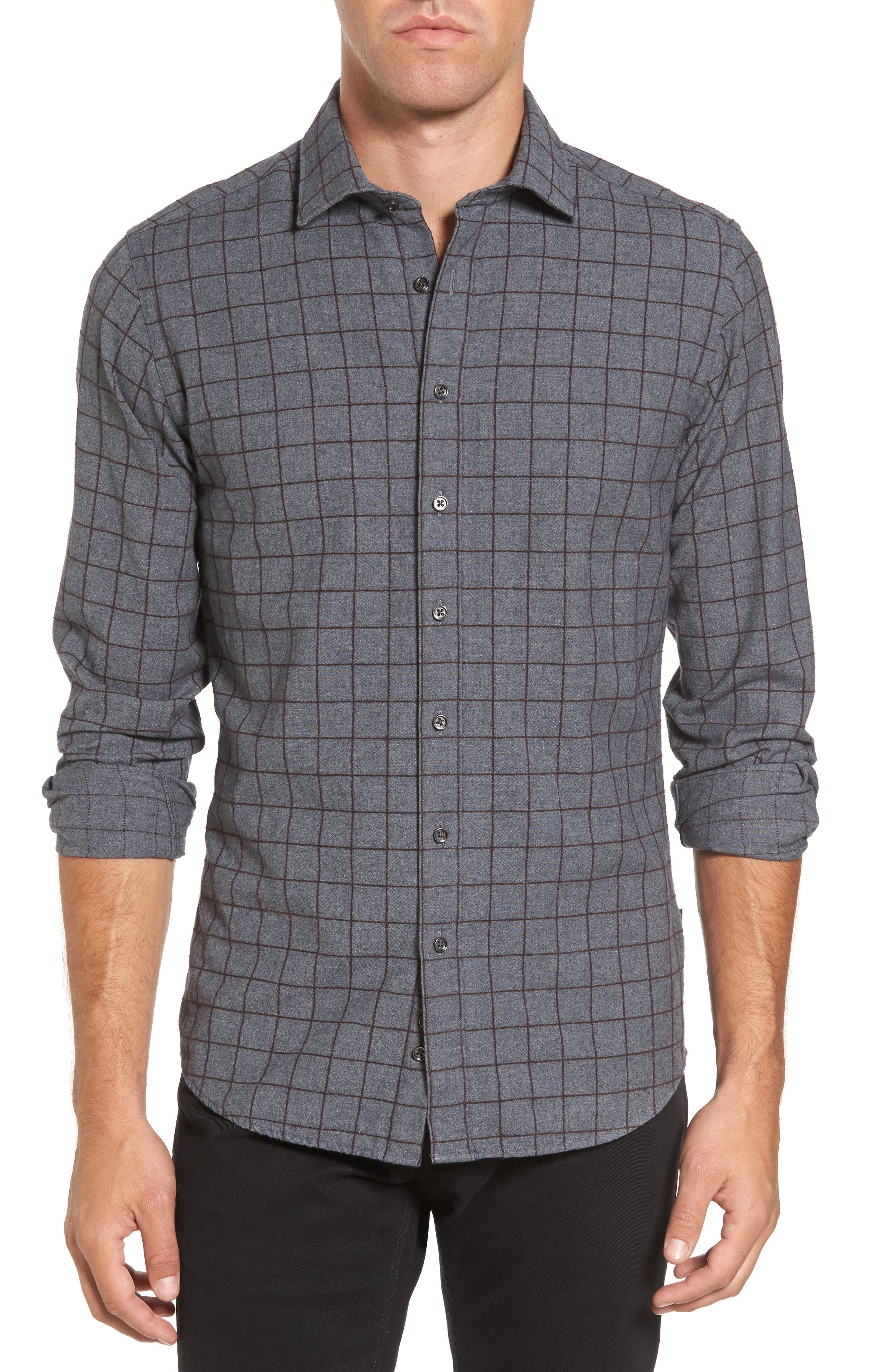 Image of RODD AND GUNN Black Forest Regular Fit Check Sport Shirt
