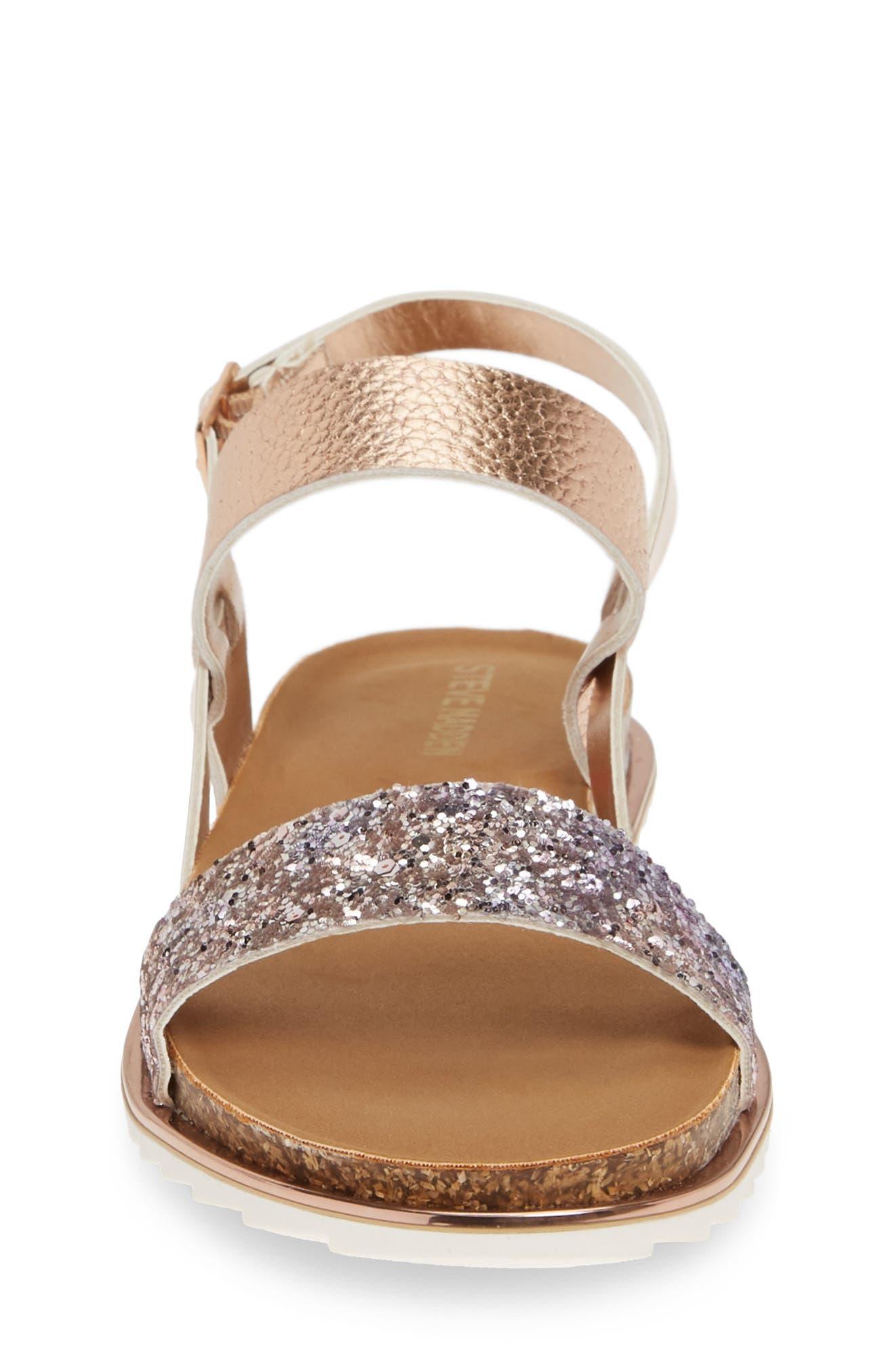 ,                             Jslim Glitter Sandal,                             Alternate thumbnail 4, color,                             ROSE GOLD