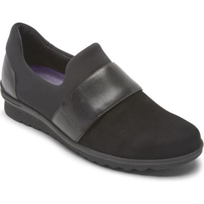 Aravon Josie Water Repellent Flat, EE - Black