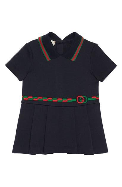 Gucci Dresses TROMPE L'OEIL BELT POLO DRESS