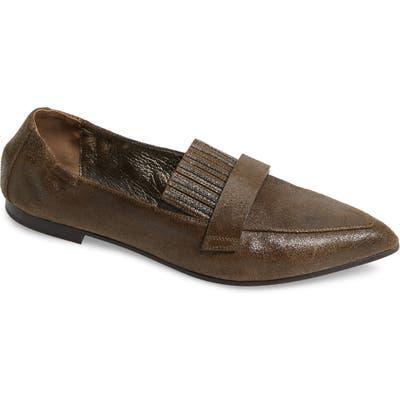 Brunello Cucinelli Monili Bead Pointy Toe Loafer, Brown