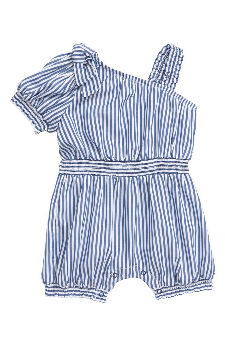 HABITUAL Stripe One-Shoulder Romper, Main, color, INDIGO