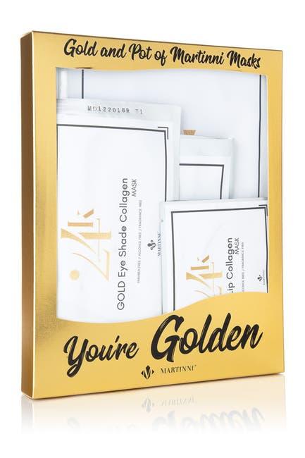 Image of MARTINNI MASKS You're Golden 6-Piece Mask Set