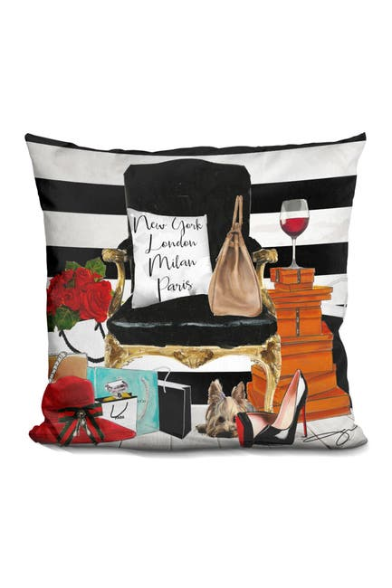 """Image of Lilipi Brand Black Chair Pillow - 16"""" x 16"""""""
