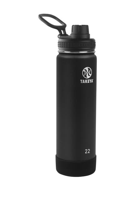 Image of Takeya Onyx Actives Insulated 22 oz. Spout Lid Stainless Steel Bottle