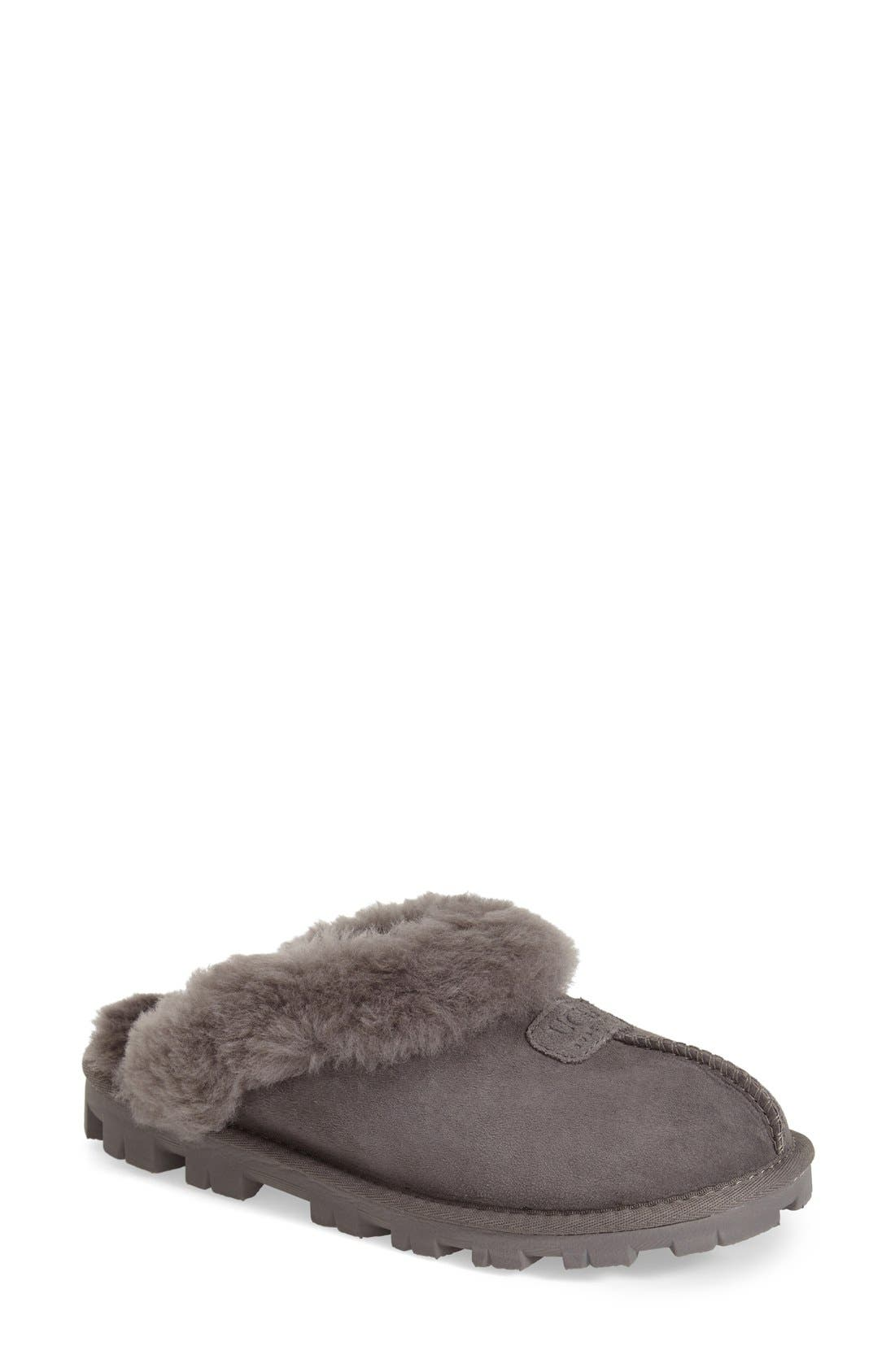 ,                             Genuine Shearling Slipper,                             Main thumbnail 45, color,                             020