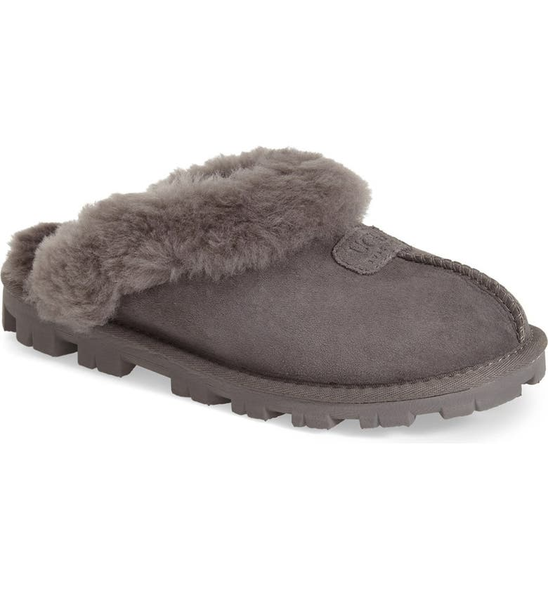 UGG<SUP>®</SUP> Genuine Shearling Slipper, Main, color, GREY