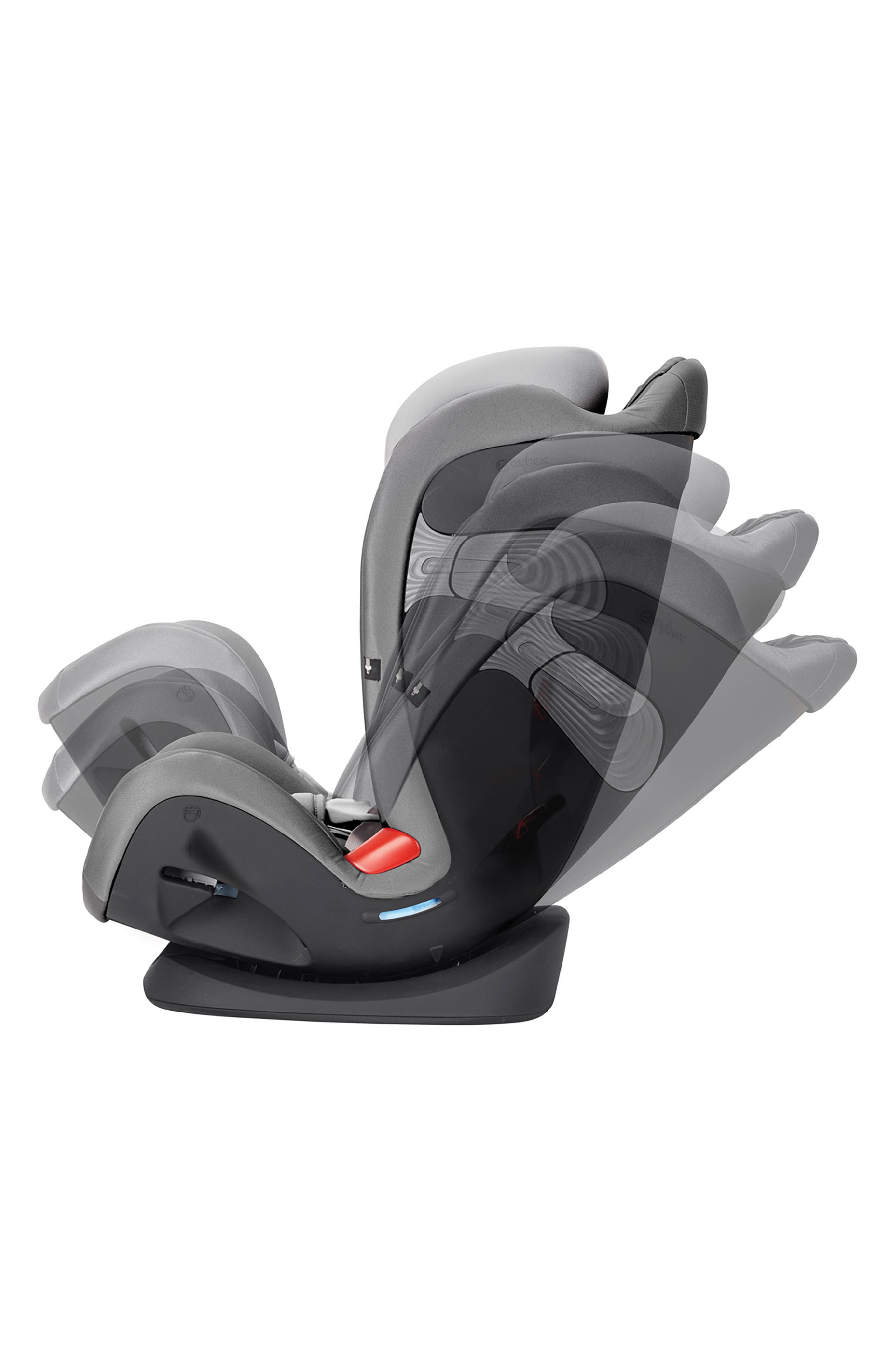 ,                             Eternis S SensorSafe<sup>™</sup> All-in-One Car Seat,                             Alternate thumbnail 3, color,                             BLACK/ GREY