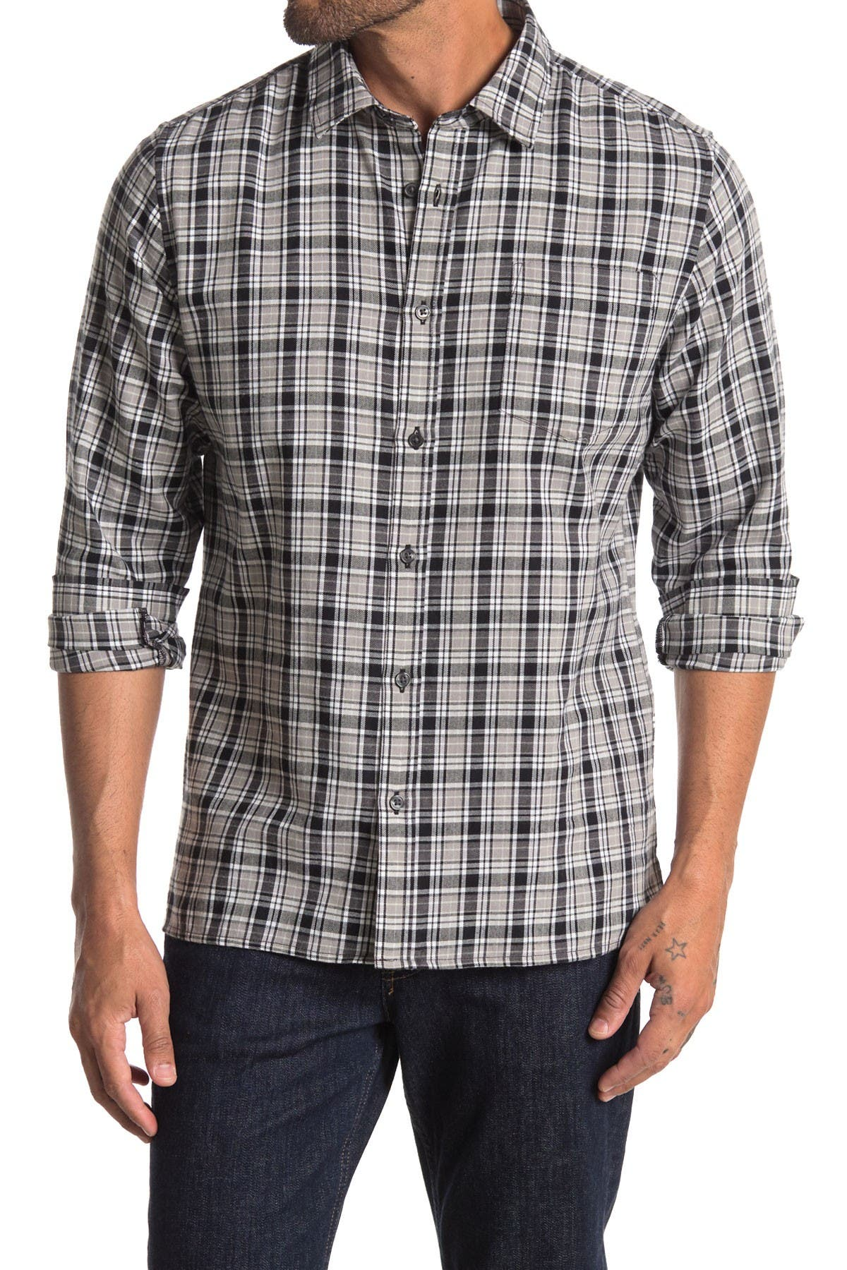 Image of Slate & Stone Plaid Regular Fit Flannel Shirt