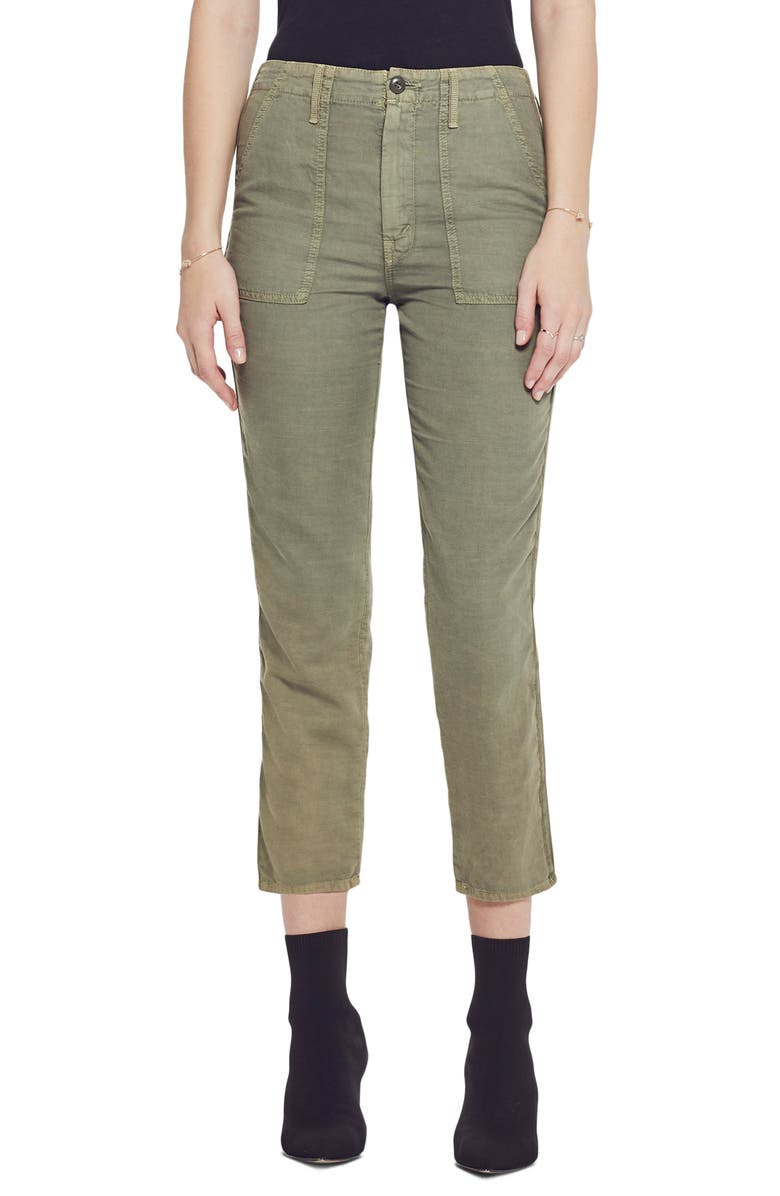 MOTHER The Shaker High Waist Raw Crop Pants, Main, color, 310
