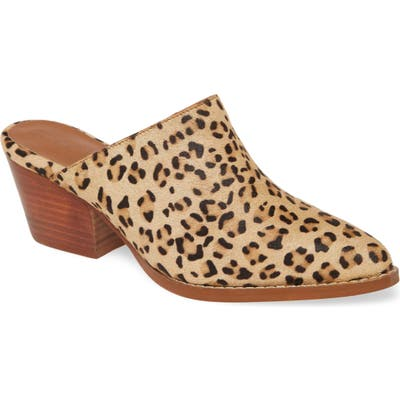 Coconuts By Matisse Camelot Genuine Calf Hair Mule- Brown