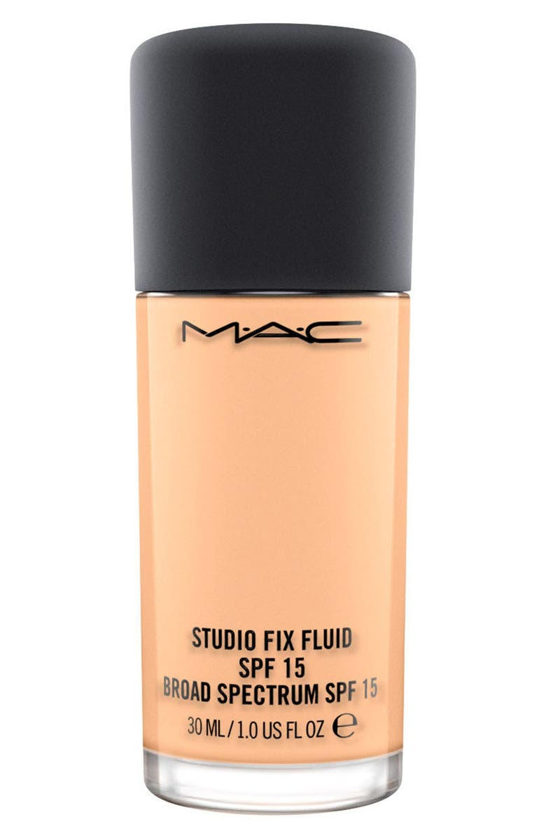 MAC COSMETICS MAC Studio Fix Fluid Foundation SPF 15, Main, color, C4 LIGHT NEUTRAL GOLDEN PEACHY