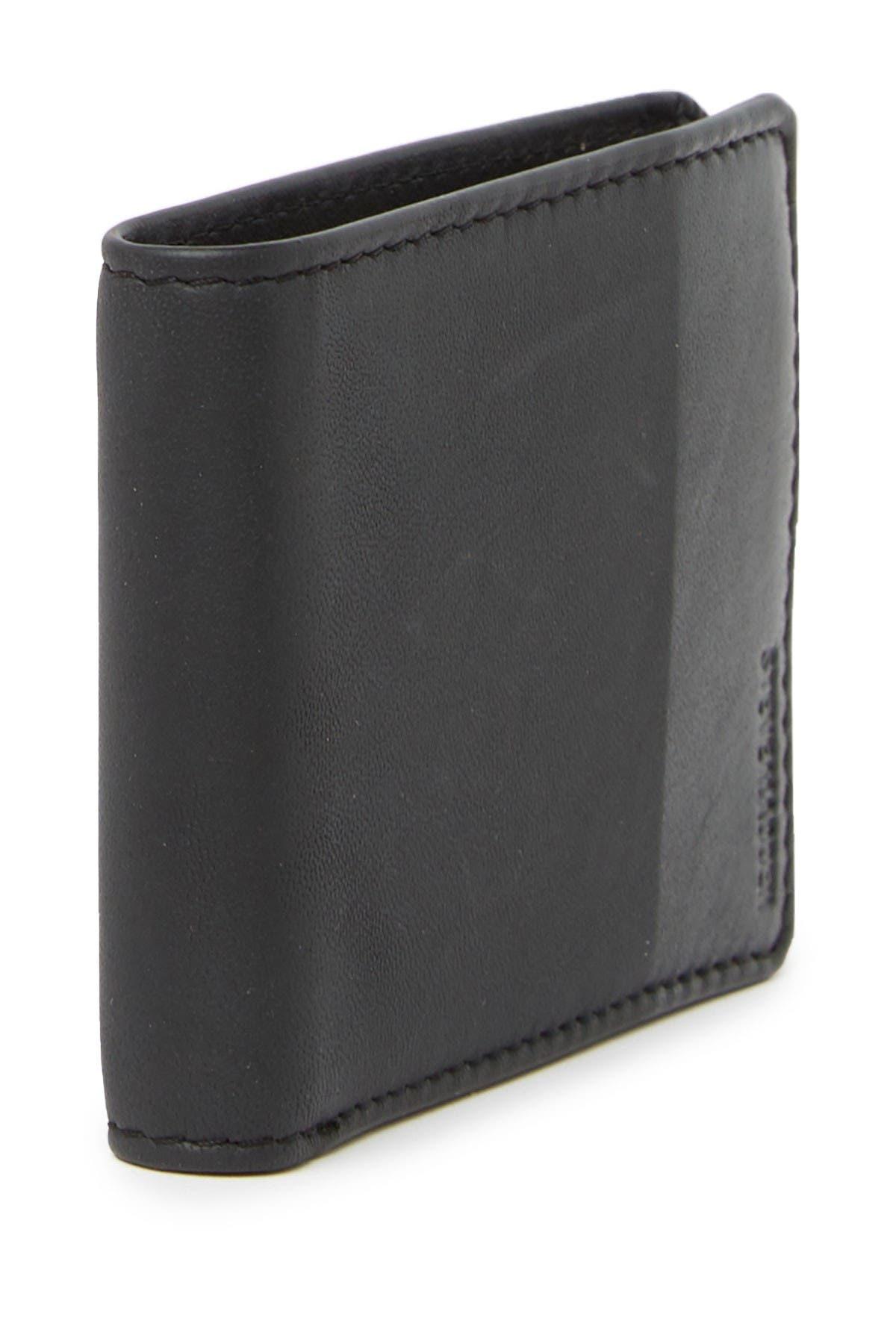 Steve Madden Two-Tone Leather Billfold Wallet