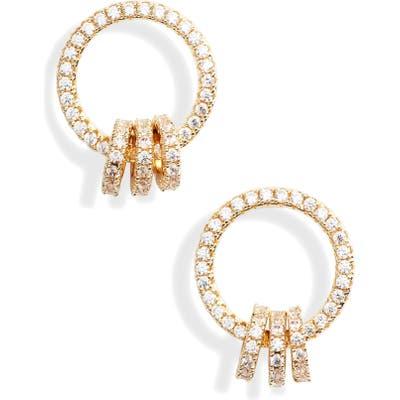Nordstrom Open Circle Link Cubic Zirconia Earrings
