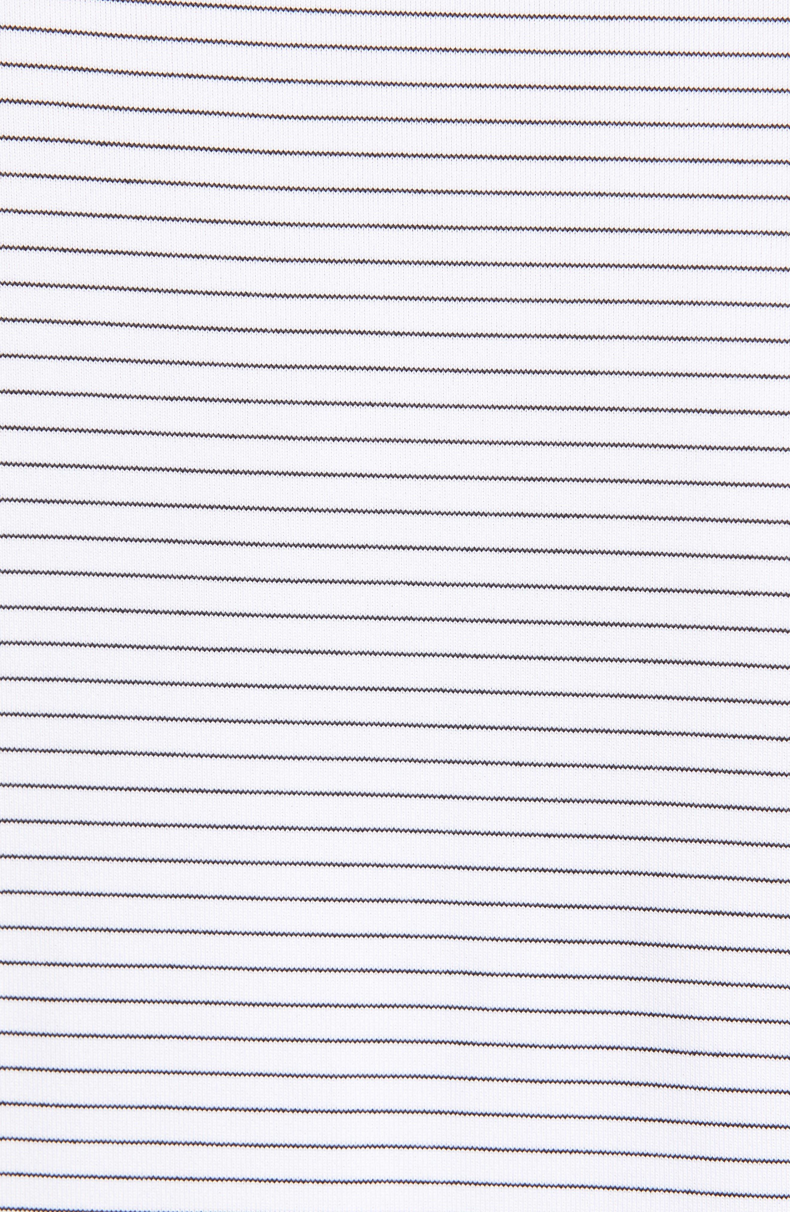,                             Forge Classic Fit Pencil Stripe Polo,                             Alternate thumbnail 5, color,                             100