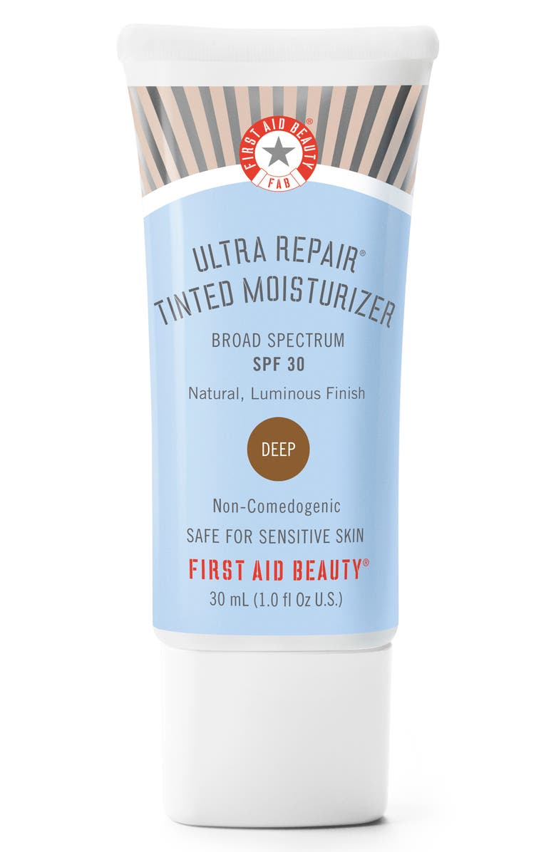 FIRST AID BEAUTY Ultra Repair Tinted Moisturizer Broad Spectrum SPF 30, Main, color, DEEP