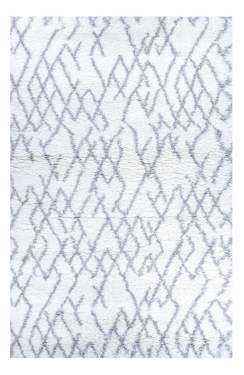 COURISTAN Urban Shag Fes Rug, Main, color, WHITE/ LIGHT GREY