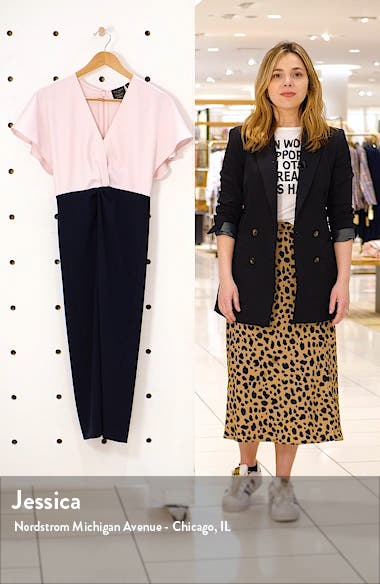 Ellame Two-Tone Sheath Dress, sales video thumbnail