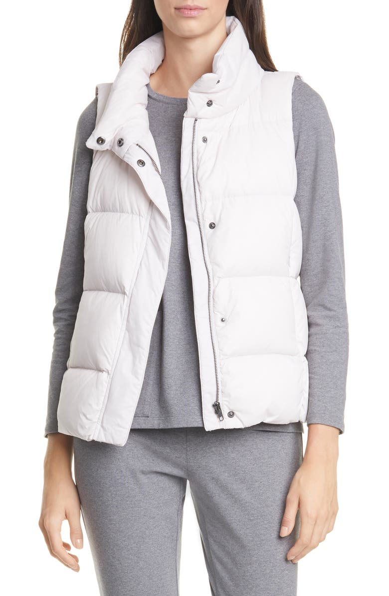 EILEEN FISHER Down Puffer Vest, Main, color, CERAMIC