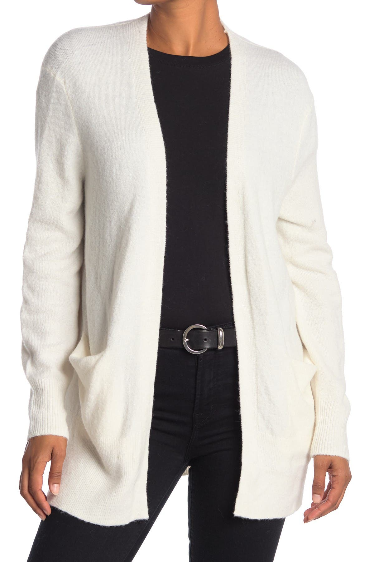 Image of Madewell Open Front Patch Pocket Cardigan