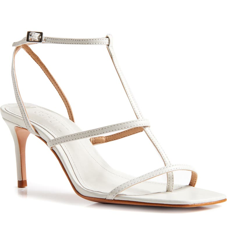 SCHUTZ Ameena T-Strap Thong Sandal, Main, color, PEARL LEATHER